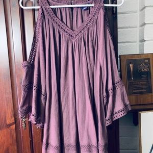 Plum Cold Shoulder Tunic